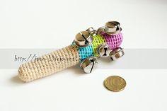Handmade crochet toy : Bell rattles