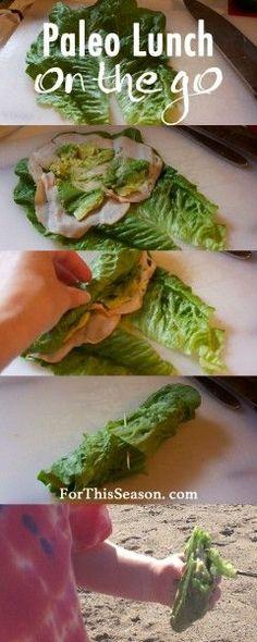 Paleo Lunch On the Go - Easy Lettuce Wraps
