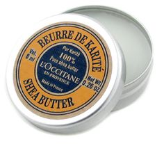 l'occitane shea butter.  perfect for preventing stretch marks during pregnancy.