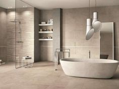 Looking for Bathroom Tiles in Dublin? Want the best quality bathroom tiles at great value? Bathroom Wallpaper Modern, Best Bathroom Tiles, Modern Bathtub, Bathroom Mirror Lights, New Bathroom Ideas, Bathroom Light Fixtures, Wood Bathroom, Bathroom Colors, Bathroom Flooring