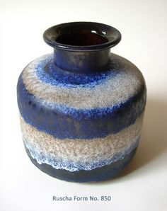 Original 70s blue Ruscha Vase No 850 by suninthebox on Etsy, €21.00