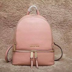 a837c2bed9662 MICHAEL Michael Kors Rhea Medium Leather Backpack Pink