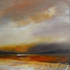 """""""Approaching twilight"""" by landscape artist David Taylor - Oil on canvas"""