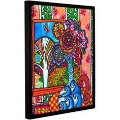 ArtWall Debra Purcell Ventana Gallery-Wrapped Floater-Framed Canvas, Size: 36 x 48, Multicolor