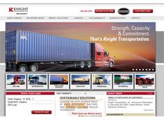 An especially nice homepage layout for this transportation website. The large banner and picture links below are great features while every page also consists of a main navigation bar and picture links on the top of the display.