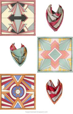 Chausan Luxury Silk Scarves - Art Deco range designed by me (fathima kathrada - Happiness is...)