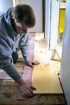 How to install wide pine plank flooring