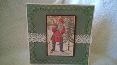 A vintage image used to create this Christmas Card.