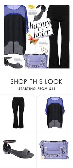 """""""Bottoms Up: Happy Hour (plus size)"""" by beebeely-look ❤ liked on Polyvore featuring Zizzi, Jennifer Lopez, plussize, happyhour, curvy and twinkledeals"""