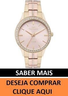 69d27bf98 Informações do produto Relógio Technos Dourado e Rosé Feminino Elegance  Crystal 2035MMJ/5T Ficha técnica