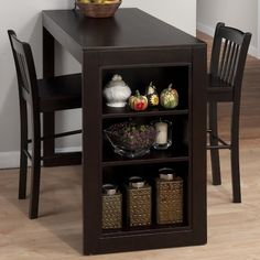 Shop Jofran Furniture Maryland Merlot Counter Height Set with great price, The Classy Home Furniture has the best selection of Bar Complete Sets to choose from Kitchen Table With Storage, Small Kitchen Tables, Table Storage, Dining Table In Kitchen, Dining Room Sets, Storage Shelves, Small Dining, Dining Area, Storage Ideas