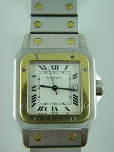 Cartier Santos Galbee Steel and Yellow Gold Swiss Watch - Pawnbank Cartier Santos, Swiss Watch, Square Watch, Sale Items, Steel, Jewellery, Watches, Yellow, Gold