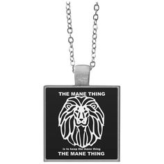 Oh! Oh! Oh! Love this new The Mane Thing Sq... Check it out! http://catrescue.myshopify.com/products/the-mane-thing-square-necklace?utm_campaign=social_autopilot&utm_source=pin&utm_medium=pin