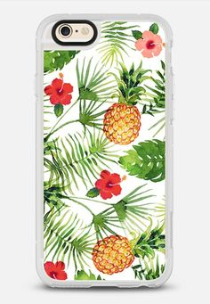 Pineapples and leaves iPhone 6 case by Volha | Casetify