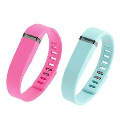 """Wrist Watch Band Wristband 2 Pcs Pink Teal w Clasps for Fitbit Flex. Color: Pink, Teal; Product Name: Wrist Watch Band. Weight: 28g; Package Content: 2 x Wrist Watch Band. Material: Rubber, Metal. Size: 23.5 x 1.4 x 1cm/9.2"""" x 0.5"""" x 0.4""""(L*W*T). Fit Wrist Girth: 15-20cm/6"""" x 8""""(Adjustable)."""