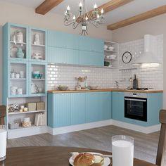 Угловая кухня «Фэнс», Leroy Merlin