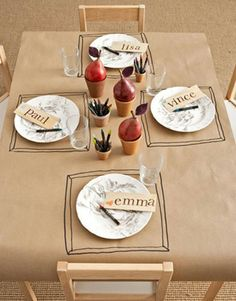 Thanksgiving table for kids