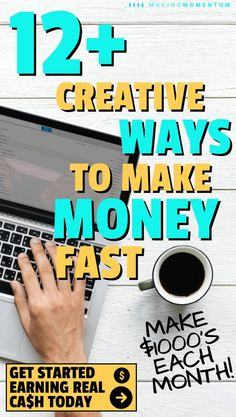 Are you looking for creative and easy ways to help you make money fast? Whether you're tight on bills or just want to save more money, there are some legit ways to earn cash quickly from home, online or around the city. Don't wait to get started with a si Earn More Money, Make Money Fast, Make Money From Home, Make Money Online, Money Tips, Money Saving Tips, Money Hacks, Cash Today, Managing Your Money