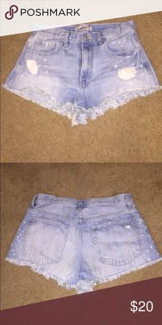Hollister High Waisted shorts. Size 7 Light wash high waisted shorts. Worn gently and only a handful of times. Hollister Shorts Jean Shorts