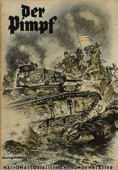 October 1939: The cover shows a German tank rolling over Polish troops. There are articles on the early days of World War II, on Zeppelins, and on the Spanish Civil War.