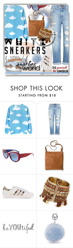 """""""Sneakers"""" by soks ❤ liked on Polyvore featuring Genetic Denim, Ralph Lauren, Merona, adidas Originals, Kate Spade and polyvoreeditorial"""