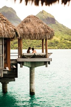 The Otemanu Plunge day bed has your names written all over it. (At @Four Seasons Resort Bora Bora)