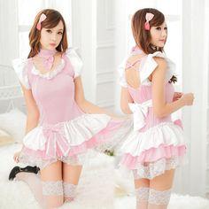 Lace Ruffle Pink and White Layered Lolita Inspired Dress