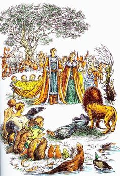 The Bible in The Magician's Nephew: As Long as a Son of Adam or Daughter of Eve Rule in Narnia — Desirée M. Aslan Narnia, Chronicles Of Narnia Books, The Magicians Nephew, Inheritance Cycle, Cs Lewis, Fandoms, Children's Literature, Book Illustration, Science Fiction