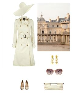 """Unknown lady in the streets of Paris"" by dezaval ❤ liked on Polyvore featuring Prada, Jaeger, Yves Saint Laurent, Jigsaw, Kurt Geiger, women's clothing, women's fashion, women, female and woman"