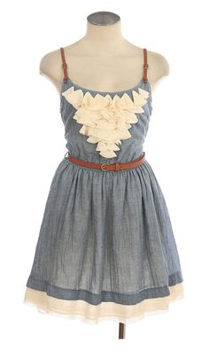 this dress + cowgirl boots= adorable