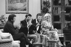 William Shatner, Leonard Nimoy, DeForest Kelley, & Bibi Besch  went on The Merv Show to promote Star Trek II: The Wrath of Khan in 1982.