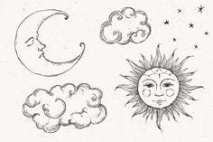 Art Drawings Sketches Simple, Pencil Art Drawings, Easy Drawings, Indie Drawings, Tattoo Design Drawings, Psychedelic Drawings, Arte Sketchbook, Funky Art, Hippie Art