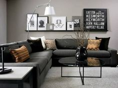 As a means of choosing your favorite small living room design. This awesome small living room design contain 19 fantastic design. Small Living Rooms, Living Room Color Schemes, Gray Living Room Design, Small Living Room Design, Room Inspiration, Living Room Designs, Living Decor, Living Room Grey, Apartment Decor