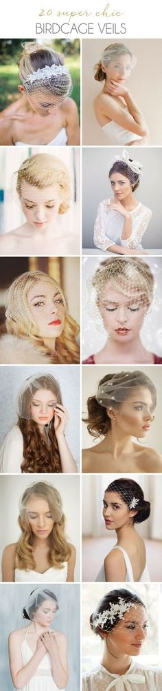 20 Super Chic Birdcage Veils from Etsy | SouthBound Bride | http://southboundbride.com/20-super-chic-birdcage-veils