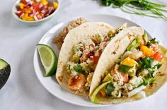 Crispy Shrimp Tacos - These are delish with the mango salsa.  YUM-O!