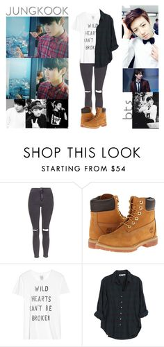 """Jungkook - Weekly Idol Edition"" by ish-fish ❤ liked on Polyvore featuring Topshop, Timberland, Zoe Karssen and Xirena"