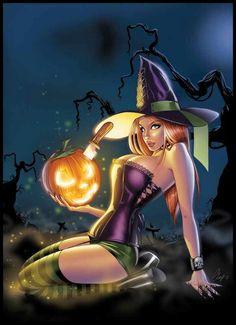 witch Sexy cartoon halloween