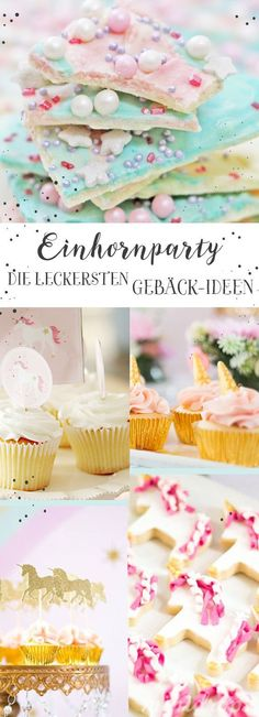 A fairy tale comes to life at this unicorn party Unicorn chocolate, unicorn muffins, unicorn cake … there are sooo many great ideas! You can find Sweet Recipes, Cake Recipes, Ideas Geniales, Pumpkin Spice Cupcakes, Unicorn Birthday Parties, Cake Birthday, Savoury Cake, Cute Food, Mini Cakes