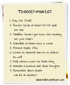 To Boost Iman list! Islam Hadith, Allah Islam, Islam Muslim, Doa Islam, Islam Quran, Alhamdulillah, Hadith Quotes, Muslim Quotes, Allah Quotes