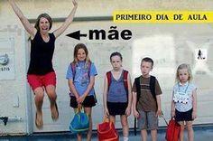 Humor do dia: mãe comemorando o retorno das aulas!