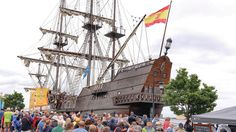 El Galeon crews are living history Tall Ships Festival, Sailing Ships, Boat, History, Live, News, Dinghy, Historia, Boats