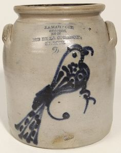 J. A. Mailloux, Canadian, Stoneware Jar With Bird : Lot 195