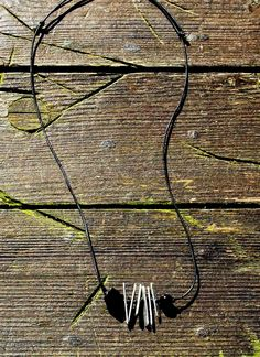 Lateliè-lcf: necklaces men aluminum and black stones