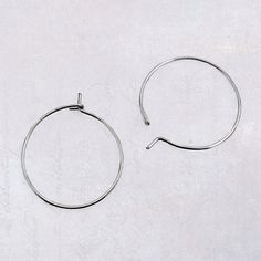 50 x Small 20mm Stainless Steel Wire Hoops for Wine by SteelThings