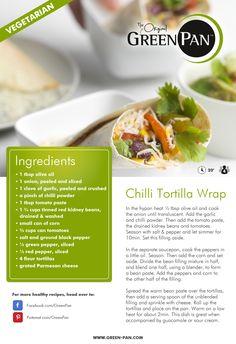 Chili tortilla wrap! #greenpan #originalrecipe #vegetarianfriendly #healthyrecipe