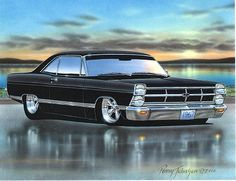1967 Ford Fairlane Hardtop Muscle Car Art Print