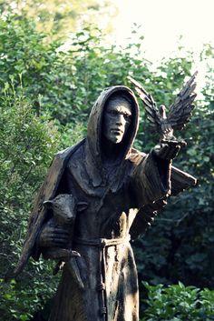 St. Francis in the Lilac Walk | Minnesota Landscape Arboretum