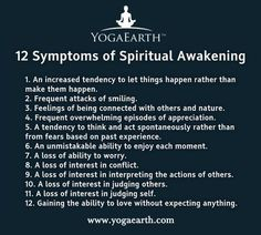 12 symptoms of Spiritual Awakening  Interesting! Will I ever get there? JDV