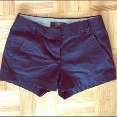 J crew shorts Super cute navy blue j crew shorts J. Crew Shorts