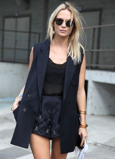 colete look street style short
